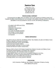 Curriculum Vitae Narrative Form Sample by Labor And Delivery Nurse Resume Free Resume Templates