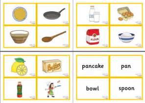 pancake day vocabulary matching cards