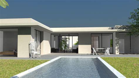 Maison Avec Terrasse Sur Le Toit by Plan Maison 224 Toit Terrasse Plans De Maisons D Architecte