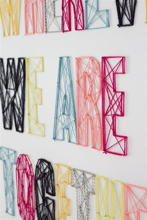 Nail And String Wall - the 25 best ideas about string letters on