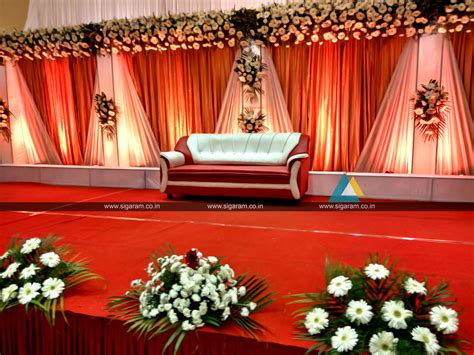 decoration ideas reception stage decoration anandha inn puducherry 171 sigaram wedding decorators