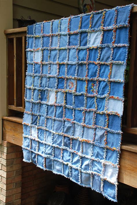 Blue Jean Quilts by Rag Quilts On Denim Quilts Denim Quilt