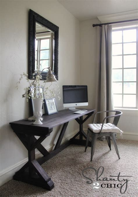 computer desk for living room diy desk for bedroom farmhouse style shanty 2 chic