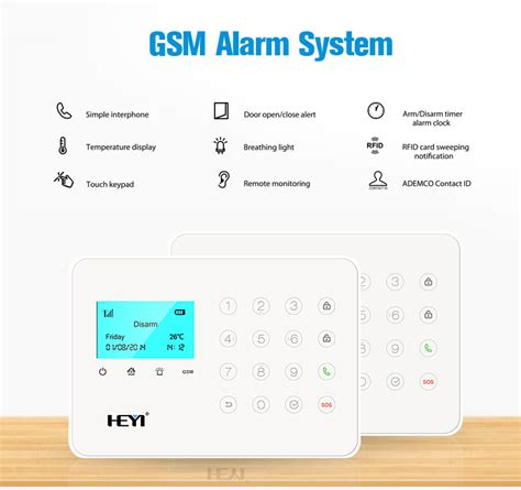 touch screen home security systems wireless with one call