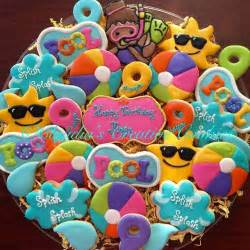 cookie decorations birthday best 25 pool birthday ideas on pool