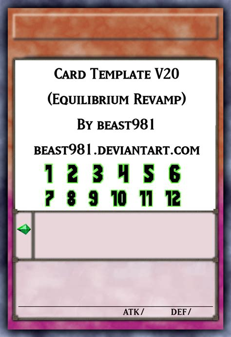 fan n card template yu gi oh equilibrium template perfected by graysogoodwn