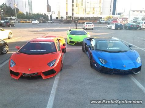 Las Vegas Lamborghini Lamborghini Aventador Spotted In Las Vegas Nevada On 12
