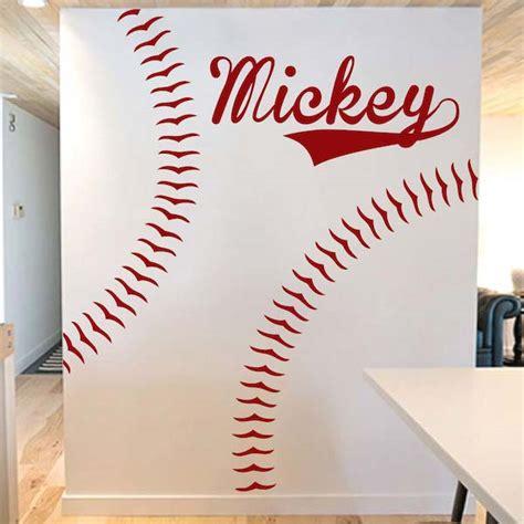 baseball wall stickers baseball player wall decal trendy wall designs