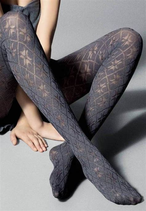 patterned diamond tights socks tights