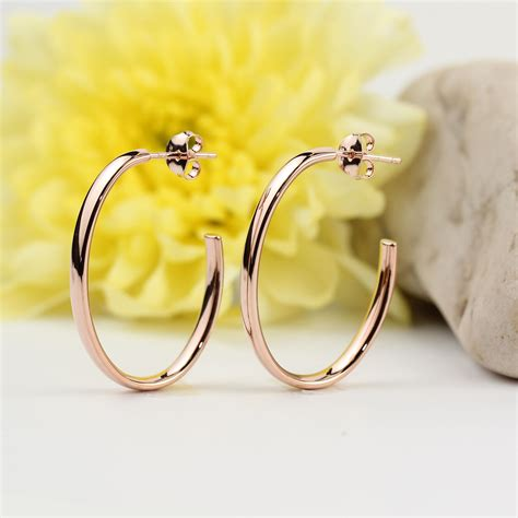 Sterling Silver Oval Drop Earrings gold plated sterling silver oval drop earrings