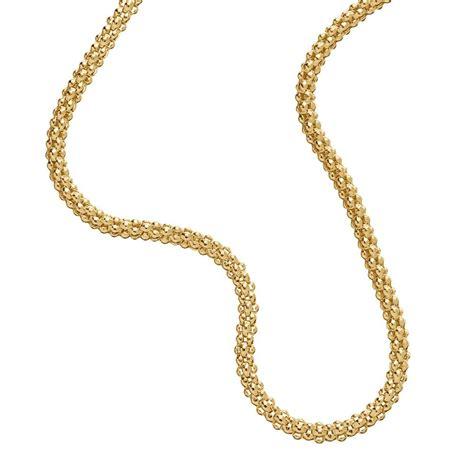 18K Gold Plate Sterling Silver 925 Italian Necklace Bracelet Choker Anklet Chain   eBay