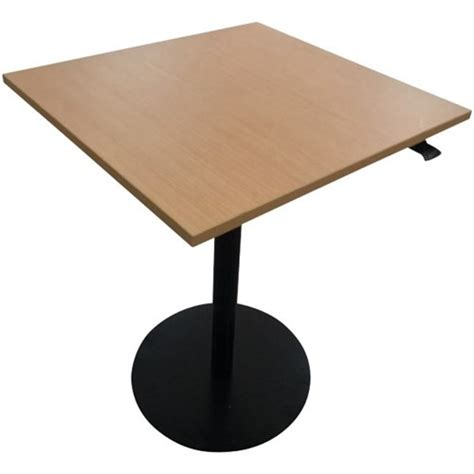 Height Adjustable Meeting Table City Height Adjustable Meeting Table 900x900mm Tawa Black Officemax Nz