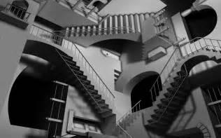 unendliche treppe infinite staircase wallpaper 5045