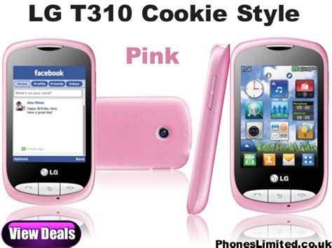 Hp Lg Cookie Style T310 lg cookie style pink joins the lg t310 cookie range phones limited news reviews deals