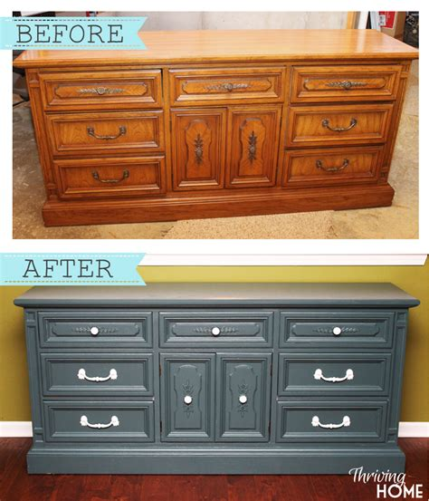 How To Makeover A Dresser by Dingy Dresser Transformed Into Kitchen Hutch Thriving Home