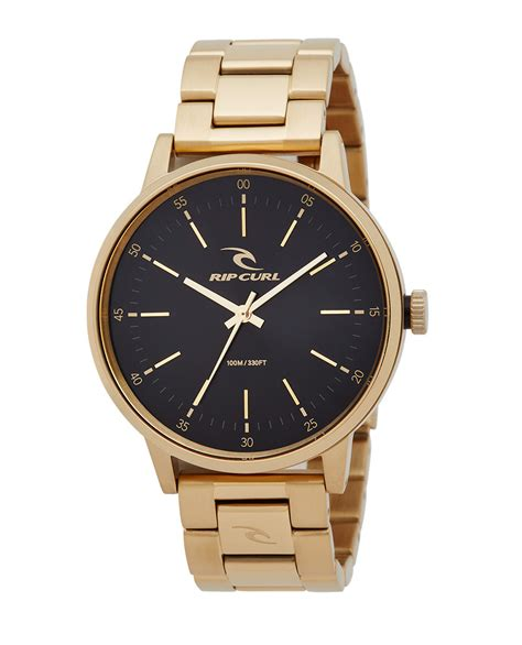 Ripcurl Gold gold sss mens surf style watches rip curl