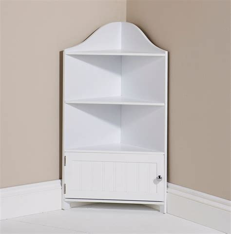 White Corner Shelf by Bathroom Cupboard White Corner Storage Unit 1 Door