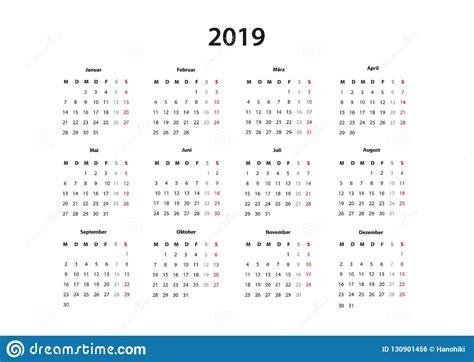 kalender    kalender einfache vorlage deutsch vector illustratie illustratie