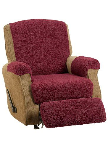 sheepskin recliner cover fleece recliner cover color burgundy 0 recliner accessories