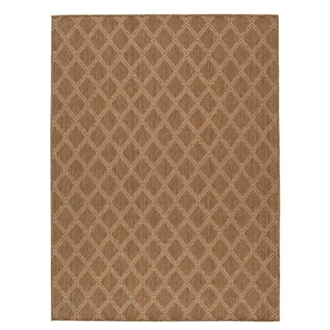 Hton Bay Diamond Brown Beige 7 Ft 10 In X 9 Ft 10 In Hton Bay Outdoor Rugs