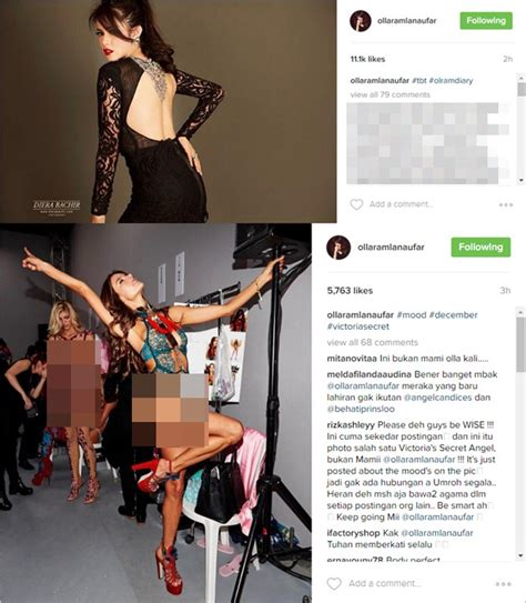 Lipstik Olla Ramlan tak mau kalah dari model s secret olla ramlan