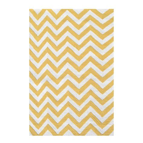 Yellow Chevron Area Rug Filament Design Chevron Yellow 5 Ft X 7 Ft 5 In Indoor Area Rug 25610d The Home Depot