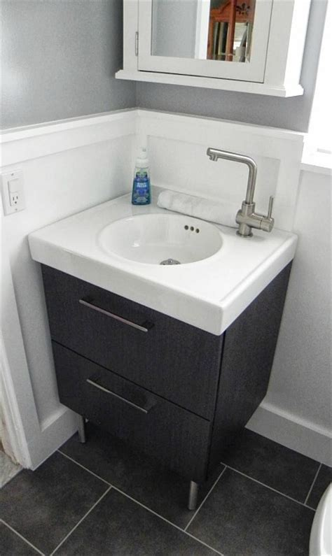 small bathroom sinks ikea before after renato s renovated bathroom hooked on houses