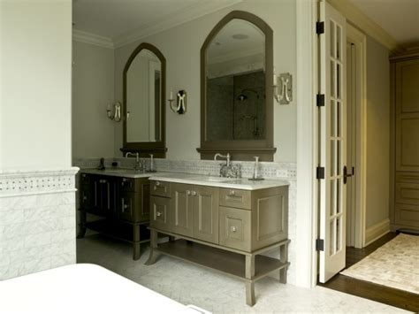 Taupe Colored Bathrooms by Taupe Bathroom Cabinets Transitional Bathroom