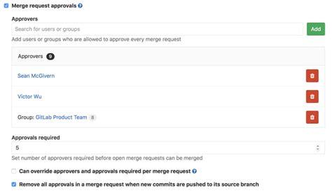 gitlab merge request workflow merge request approvals gitlab