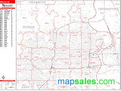 Omaha Zip Code Map by Omaha Nebraska Zip Code Wall Map Red Line Style By