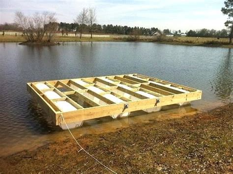 how to build a boat dock with plastic barrels how to build a floating dock my floating dock build