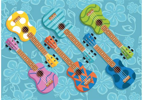 colorful ukulele colorful ukulele vectors free vector stock