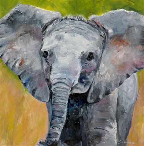 painting elephant for quot baby elephant quot original elephant