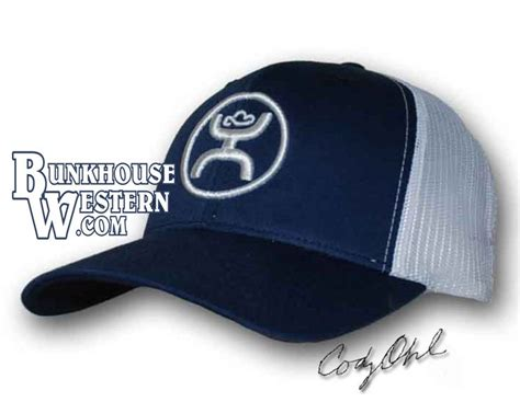 Topi Trucker K55 Ps ohl navy and white trucker snapback cap hooey hat