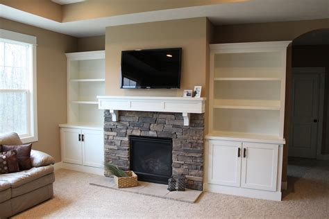 Built In Bookcases Ideas For Small Space Fireplace Built In Bookshelves