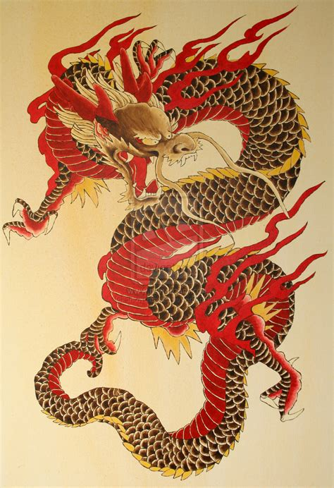 tattoo oriental art the dragon by snowcrashed deviantart com on deviantart