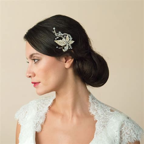 Gold Wedding Hair Accessories   Wedding Ideas by Colour   CHWV