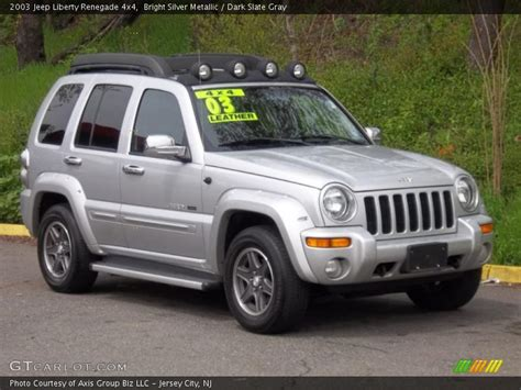 silver jeep renegade 2003 jeep liberty renegade 4x4 in bright silver metallic