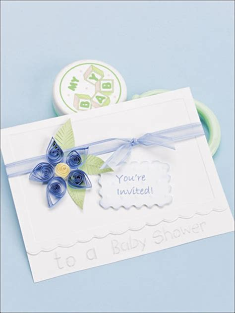 Baby Shower Paper Crafts - crafts for baby shower invitations