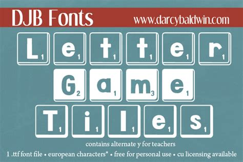 free scrabble tile font djb letter tiles font darcy baldwin fonts