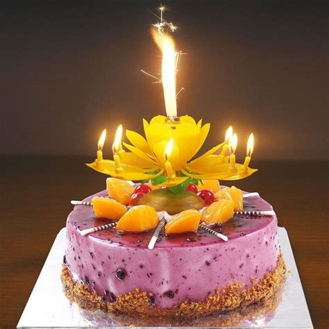 lotus flower birthday candle musical birthday candle decoration lotus flower