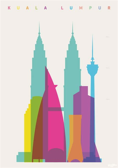 layout artist malaysia colorful and vibrant shapes of cities posters favbulous