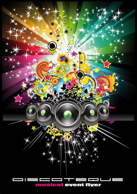 background themes songs bright music theme elements background vector 04 vector
