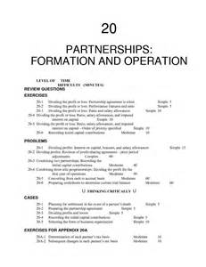 Partner Contract Template by Partnership Agreement Template Besttemplates123