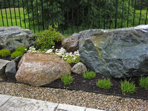 Rocks In Garden Rock Garden Design Images House Beautiful Design