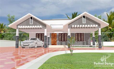 single floor home plans 1087 square modern single floor home design homes in kerala india
