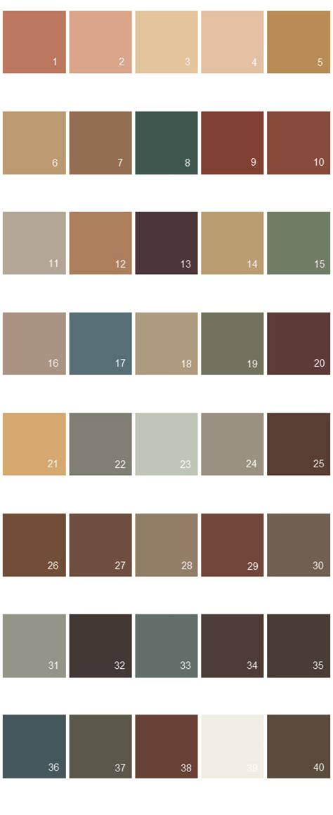 behr paint colors palette 09 house paint colors
