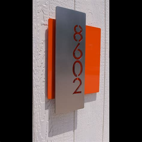 vertical house number signs custom modern layered floating house numbers vertical