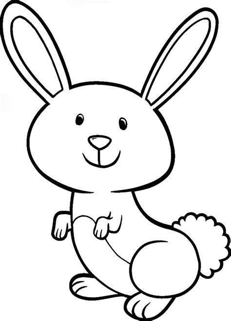 bunny coloring pages easy bunny coloring pages clipart best