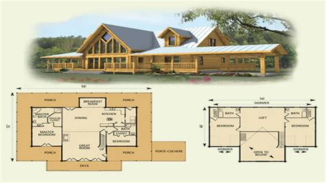 cabin home plans with loft log cabin with loft floor plans